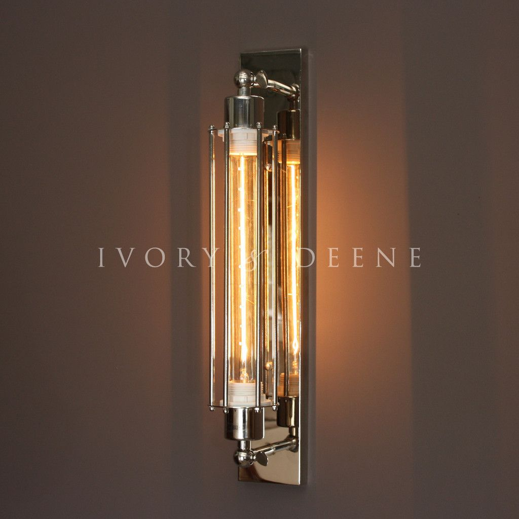 Bathroom Sconces Australia polished chrome industrial sconce wall lamp with edison filament