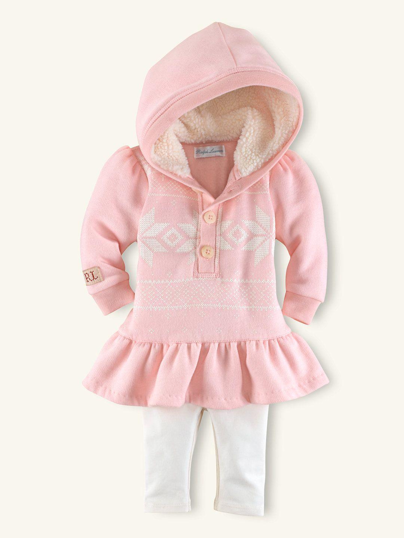 Fleece dress legging set outfits gift sets layette