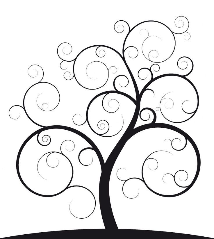 family tree outlines