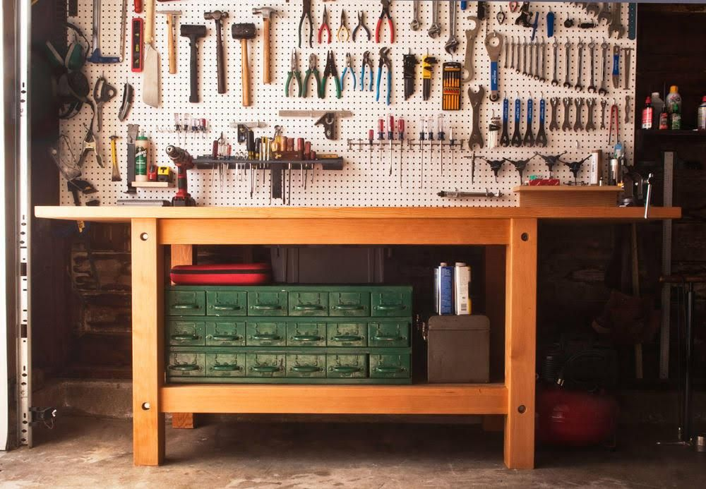 How To Make The Ultimate Garage Workbench Garage Work Bench Garage Workbench Plans Workbench Plans