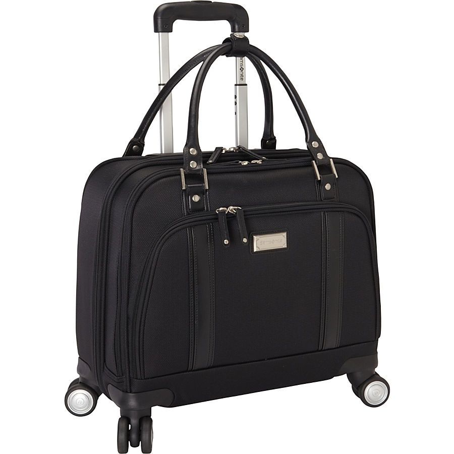 The Samsonite Women S Laptop Spinner Mobile Office At Ebags Carry Your Essentials For Business Travel Inside This Sleek And Stylish Roller Bag From