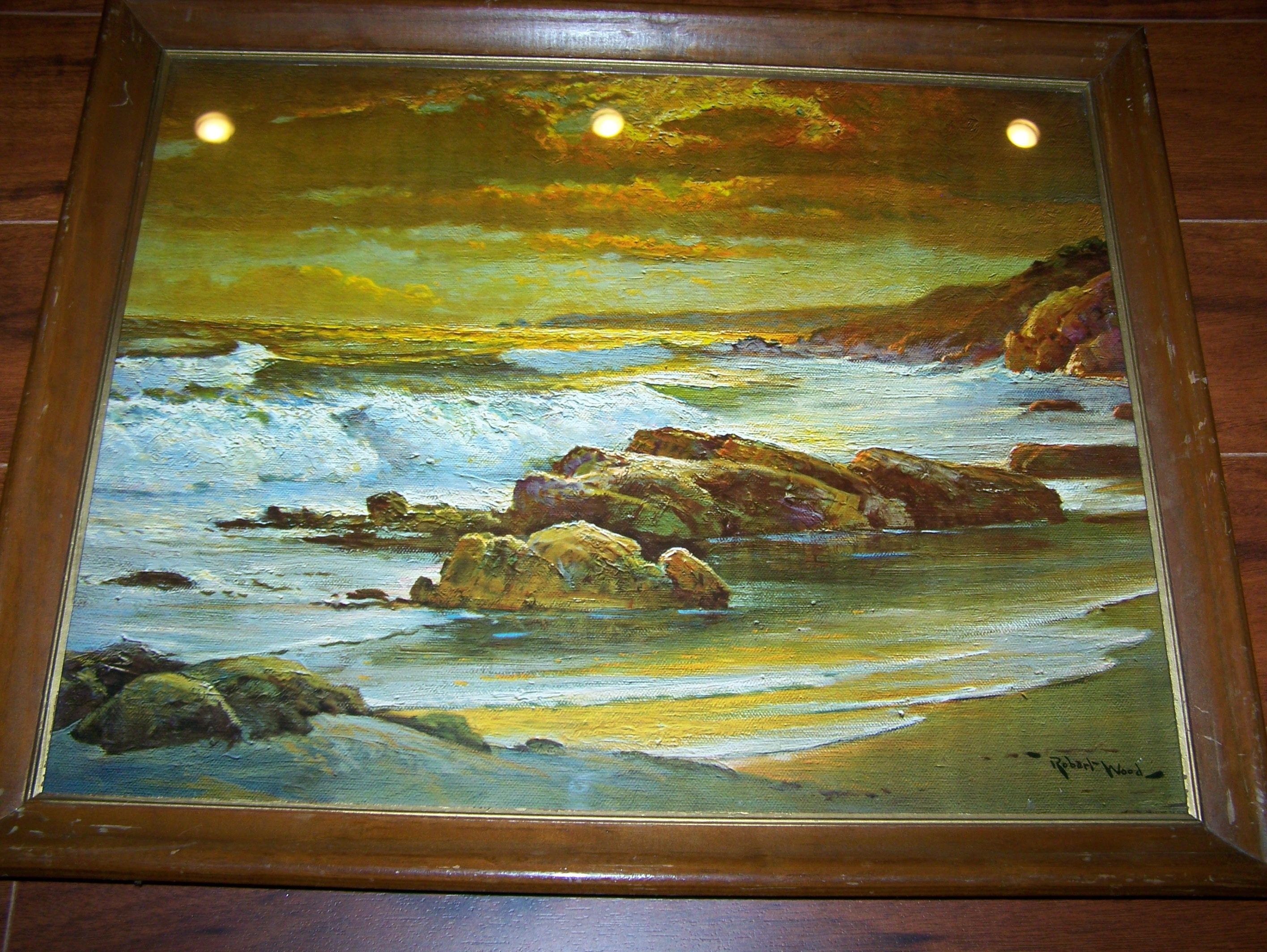 Robert Wood Seascape Artist Vintage Litho Quot Sunset