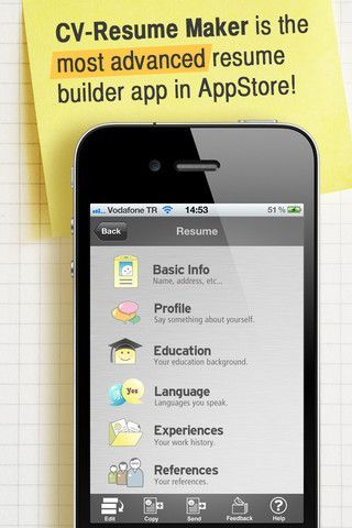 Resume Maker ($199) New resume builder with a beautiful user - Best Resume Builder App