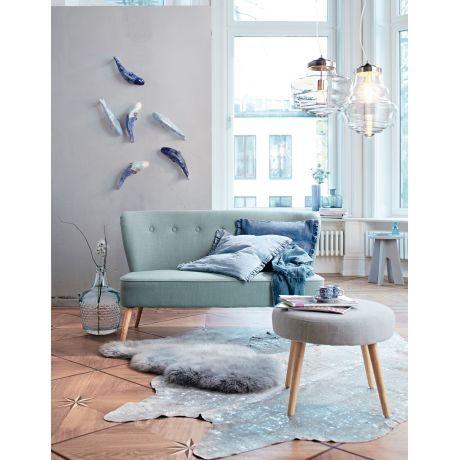 Sofa, 2 Sitzer, Retro Look Vorderansicht
