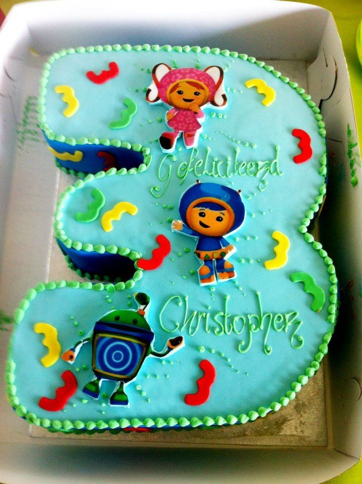 Team Umizoomi Number 3 Cake Birthday Party Ideas