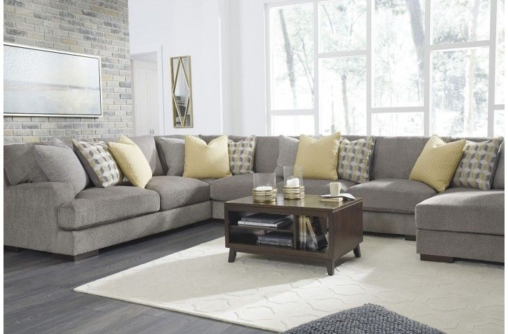 Exceptionnel Fallsworth Smoke RAF Large Sectional From Ashley | Coleman Furniture