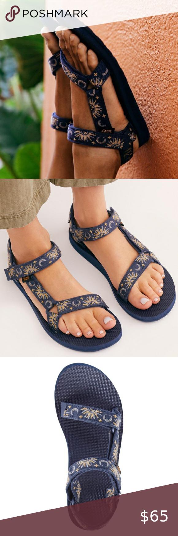Nib Celestial Sun Moon Teva Sandals In 2020 Teva Sandals Teva Teva Shoes