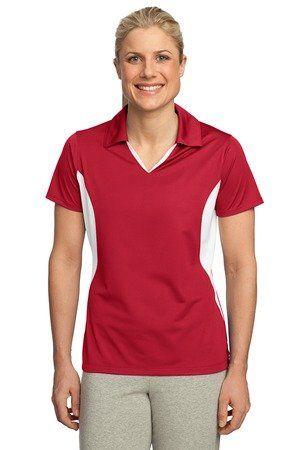 Sport Tek Women`s Side Blocked Performance Polo Shirt. LST655 - Listing price: $51.98 Now: $14.33