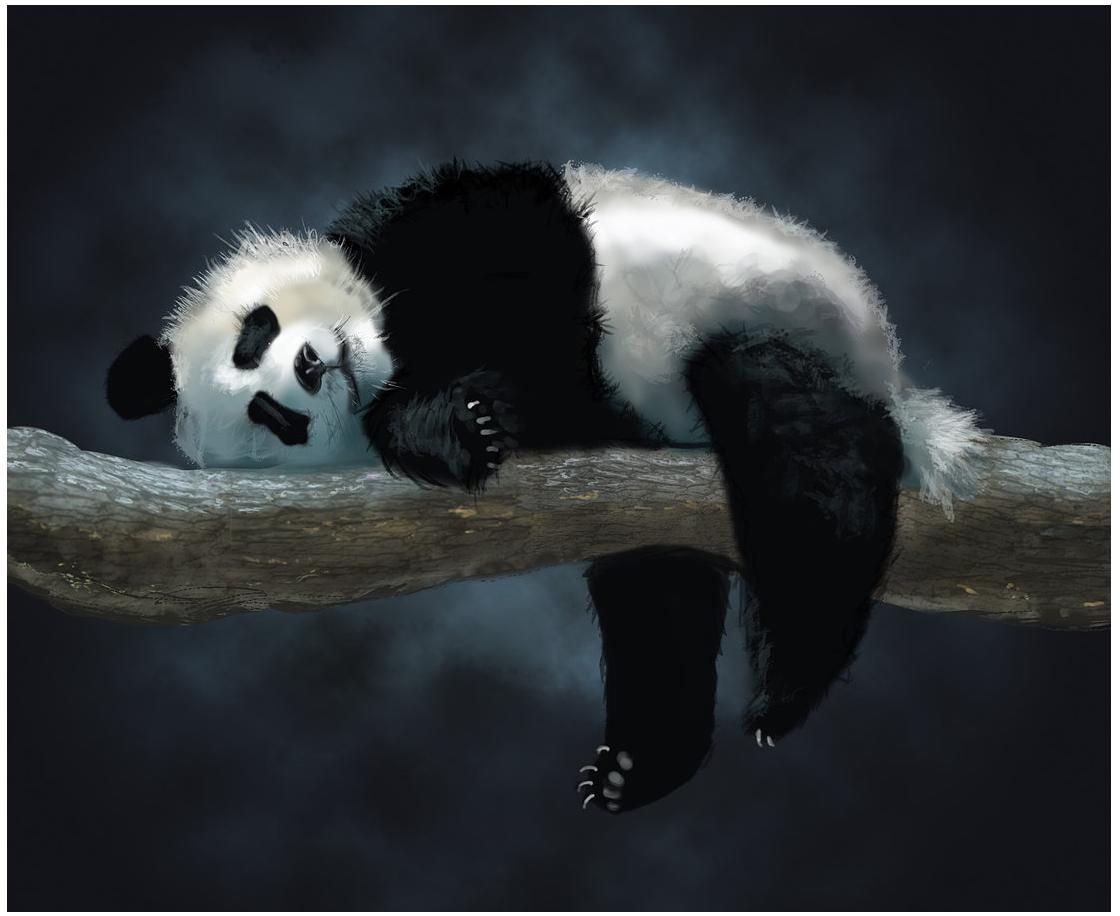 panda painting from google Panda painting, Animals