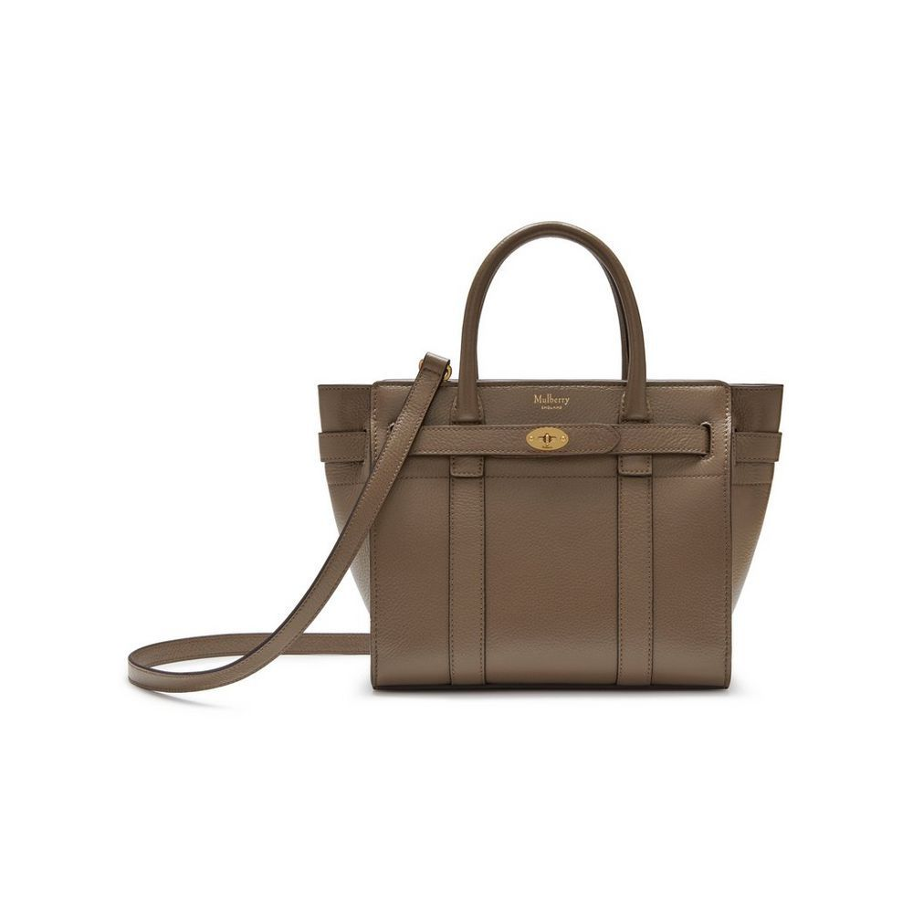 Shop the Mini Zipped Bayswater Bag in Clay Small Classic Grain Leather at  Mulberry.com 5cfeafc453279