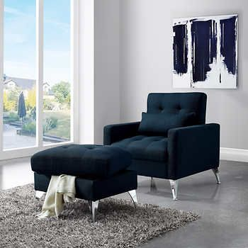 avesta blue reclining chair with ottoman furniture chair rh pinterest com Grey Sofa and Loveseat Set Light Gray Sofa and Loveseat