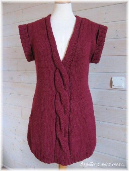 Favori photo tricot modele tricot facile tunique gratuit 13 | tricot  MV09