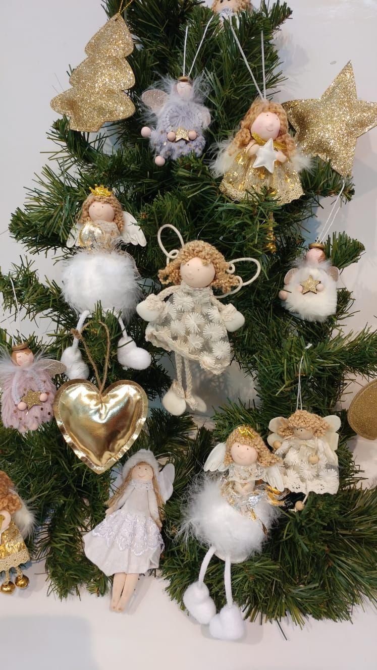 Addobbi Natale.Addobbi Natale Angeli Fatine Oro E Glitter Da Spugna Riccione Idee Di Natale Natale Addobbo
