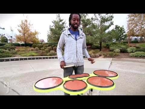 Jonanthan Wicks Pulse Percussion Performs DooG SleeF And Breaks It Down For You To Learn Hes Using His Xymox Custom Full Tenor Drum Pad Electric