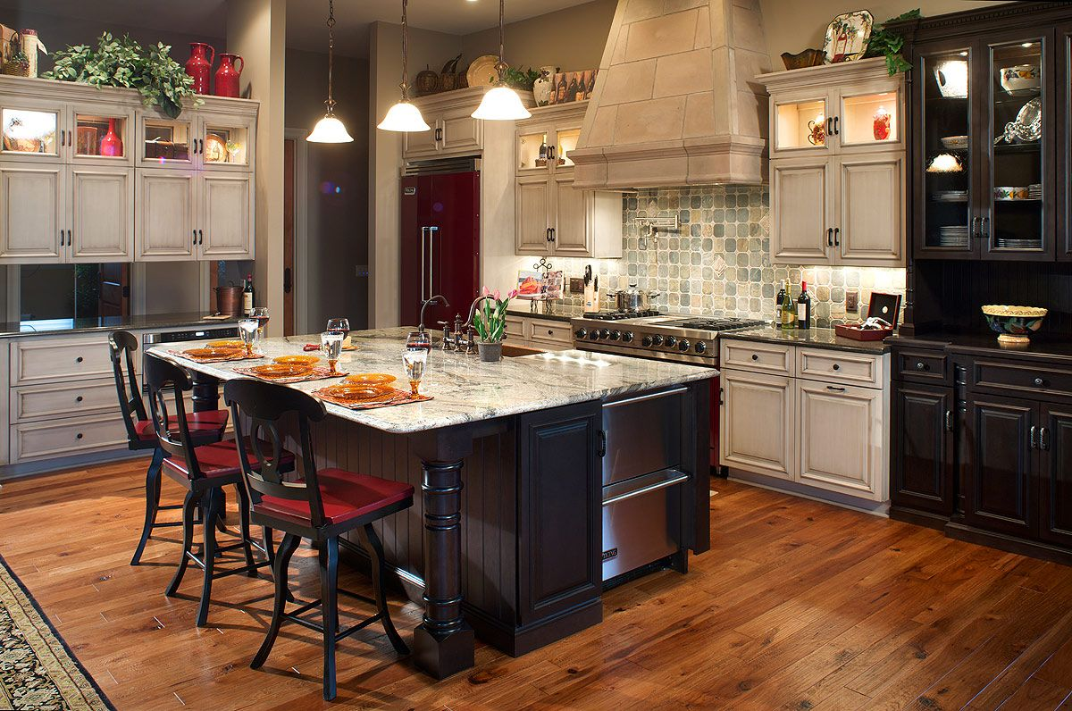 Colorful kitchen that entertains kitchen design pictures