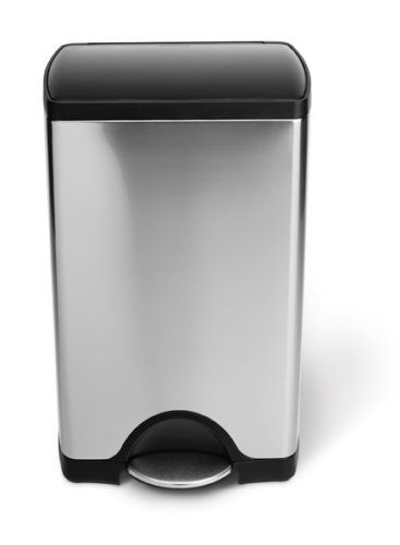 Simplehuman Rectangular Step Trash Can Brushed Stainless Steel 38 Liters 10 Gallons Simplehuman Http Www Ama Simplehuman Trash Can Brushed Stainless Steel