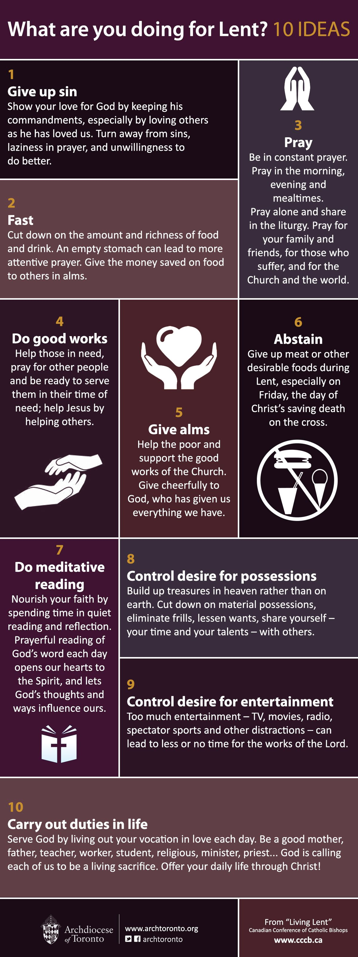 What are you doing for Lent 10