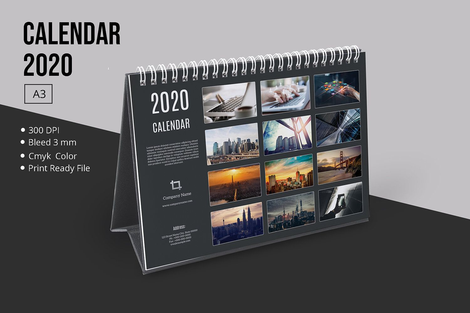 Desk Calendar Template 2020 Table Calendar Corporate Desk Calendar Template Photoshop Indesign Desk Calendar Template Desk Calendars Calendar Template