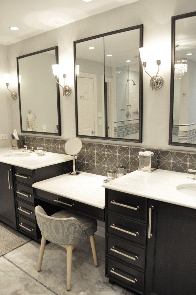 The Granite Gurus 5 Beautiful Black White Baths Master Bathroom Vanity Modern Master Bathroom Modern Master Bathroom Decor