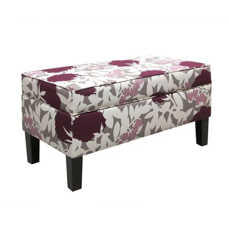 Found it at Wayfair - Upholstered Storage Bench in Plum