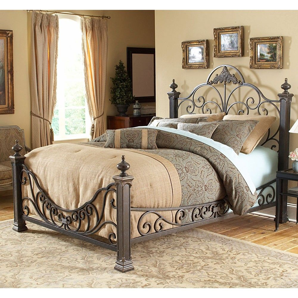 The Baroque Iron Bed In Gilded Slate By Humble Abode Ornate And