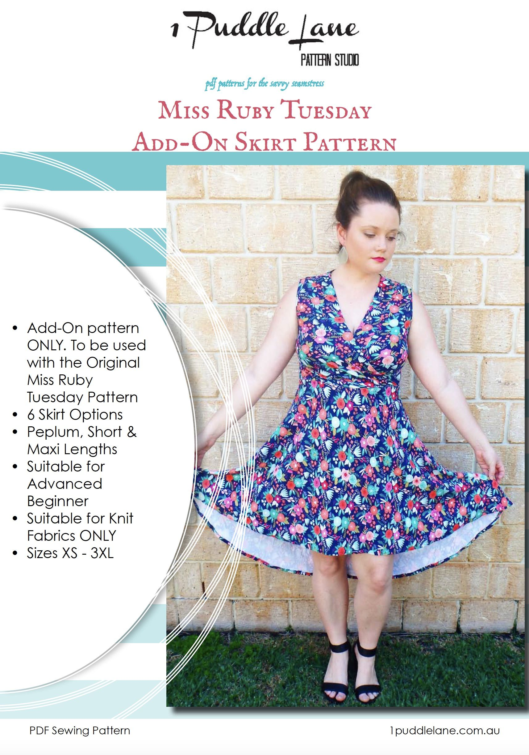 MiSS RUBY TUESDAY ADD-ON PATTERN - SKIRTS | Other patterns