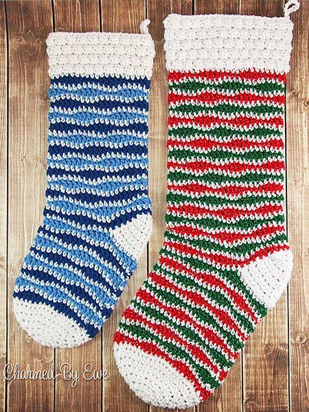 Free Christmas Stocking Crochet Patterns Christmas Pinterest