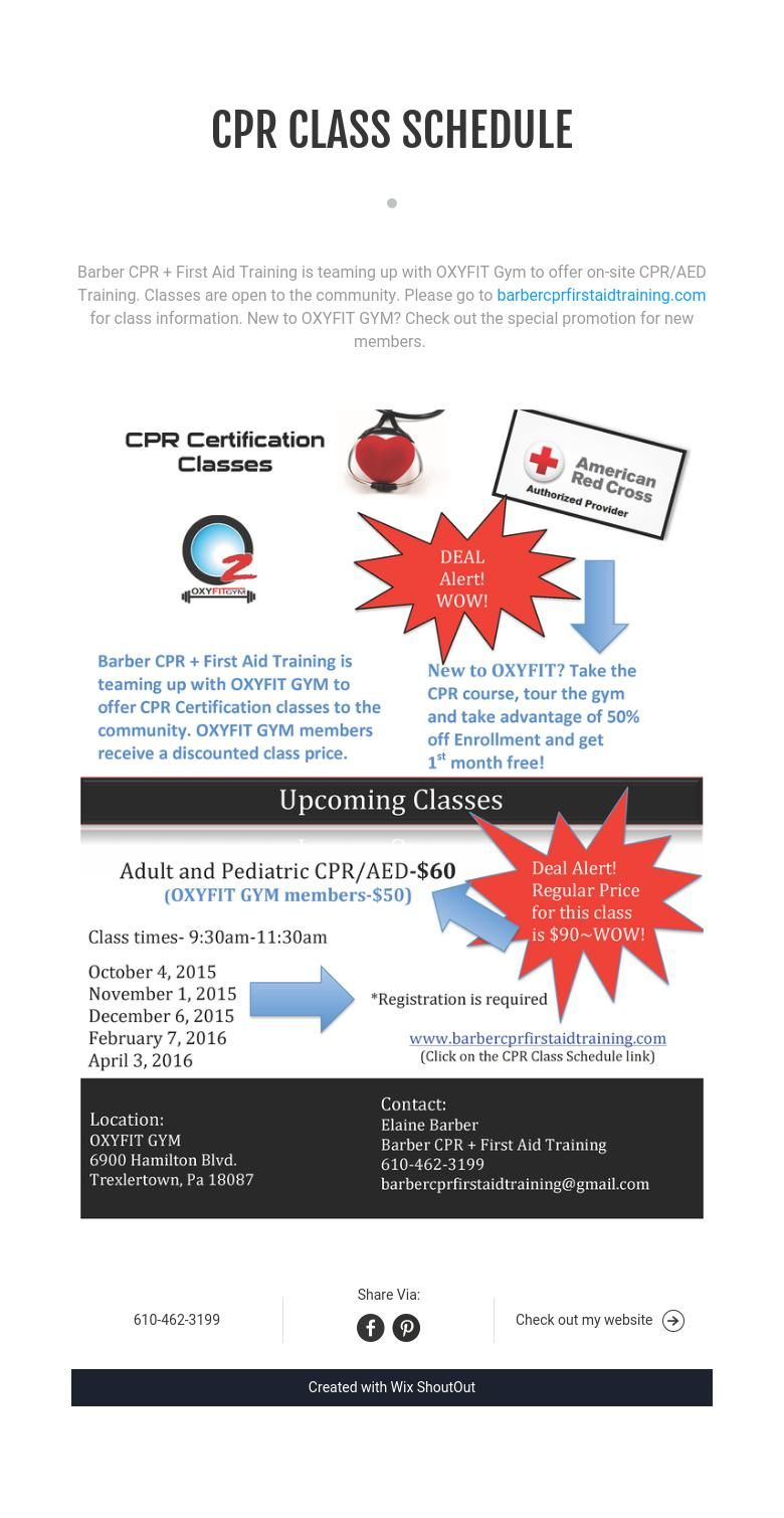 Cpr Class Schedule Pinterest Training Classes And Special Promotion