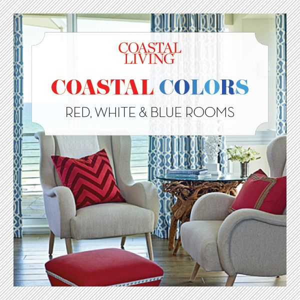 Coastal Colors Red White Blue With Images Red Bedroom