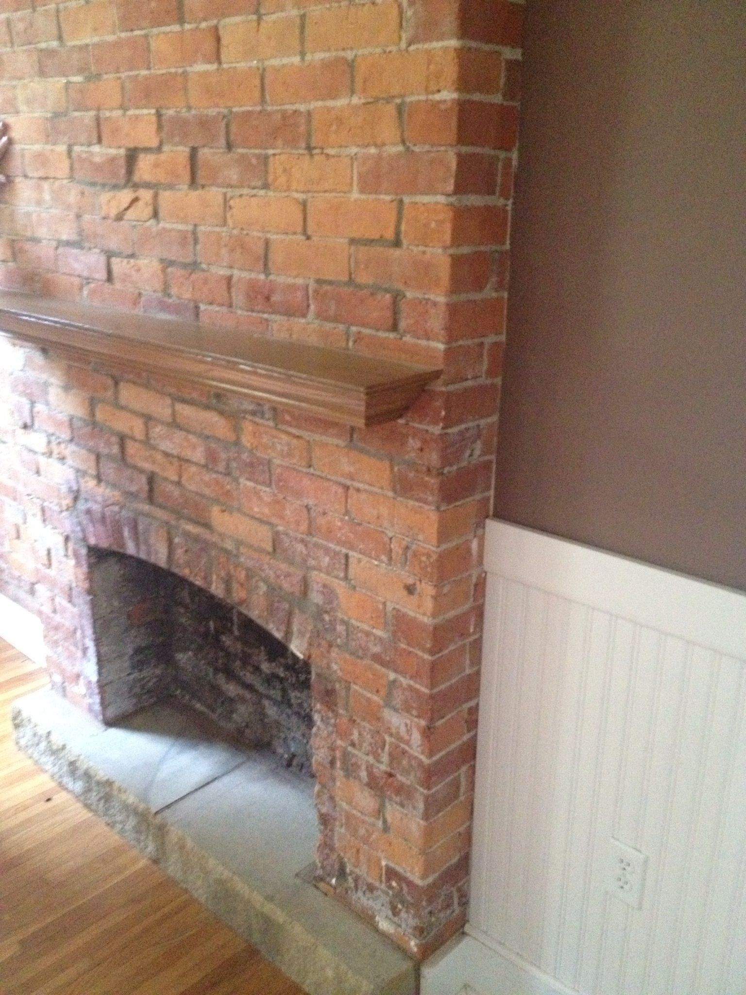 Fireplace in the dining room!!