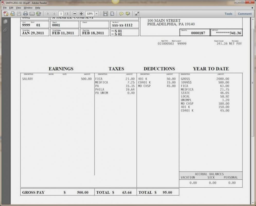 pay stub template word document template pinterest templates
