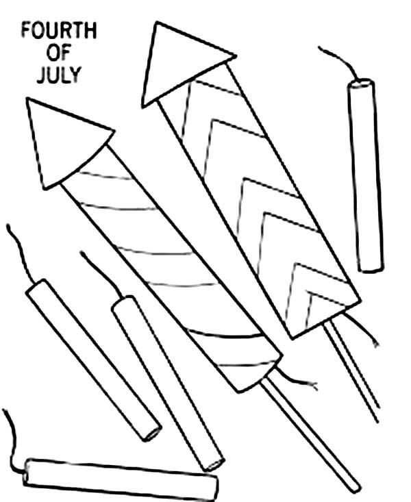 Fireworks And Firecrack For Independence Day Coloring Page Library - new 4th of july coloring pages preschool