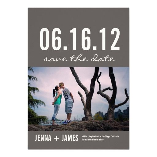 Photo Save the Date Announcement Card (005)