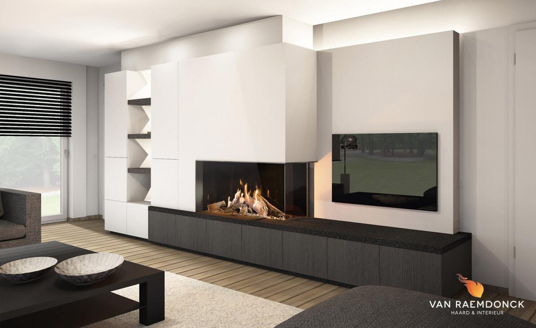 Nette Tv Kast.Design Tv Meubel Van Raemdonck Haard Interieur Haard