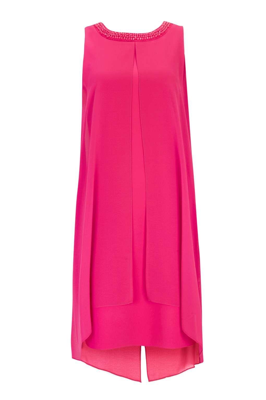 Pink Embellished Neck Overlay Dress - Dresses- Wallis Europe   ropa ...