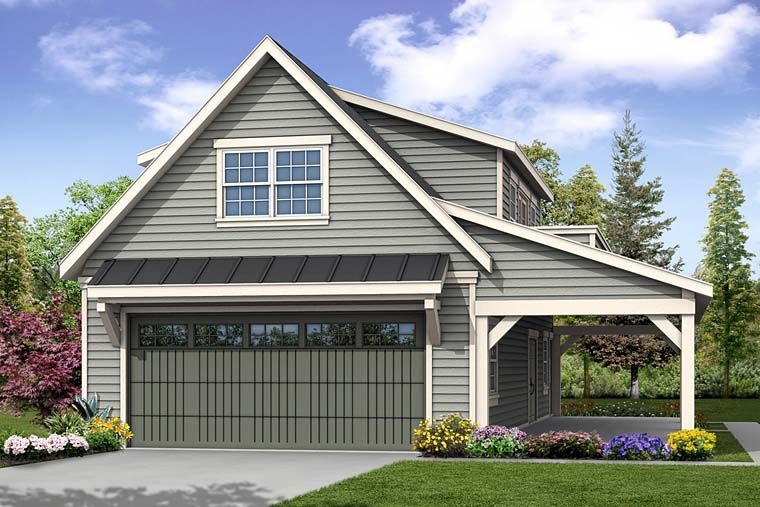 Traditional Style 2 Car Garage Plan Number 41277 in 2020