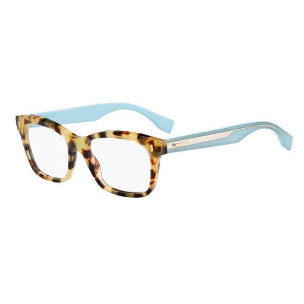 c0c17bee21 Fendi FF 0027 COLOR BLOCK HK5 Eyeglasses (€170) ❤ liked on Polyvore  featuring accessories