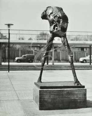 William Penn School: statue, the Striding Man