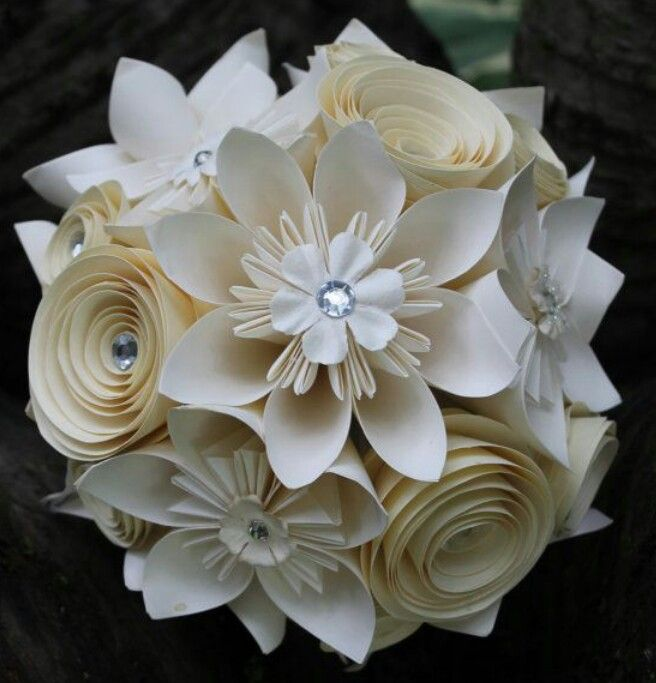 Elegant Paper Flower Bouquet | ghost ideas | Pinterest | Flower ...