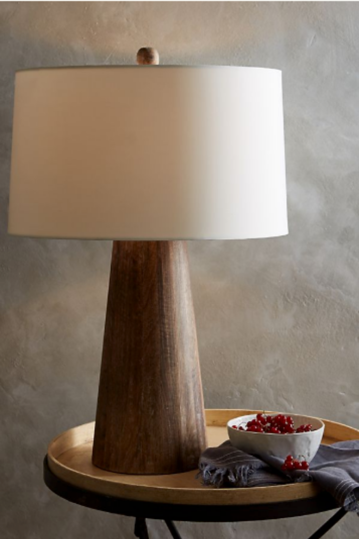 The Best Table Lamps And Some Cheaper Look Alikes According To Designers Barrel Table Table Lamp Wood Unique Light Fixtures