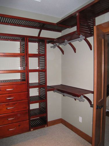 John Louis Home Red Mahogany Closet Installation