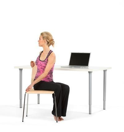 beginners workout from office  office yoga chair pose