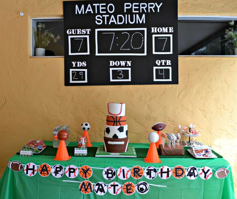 Sports Birthday Party Ideas Birthday party ideas Birthdays and