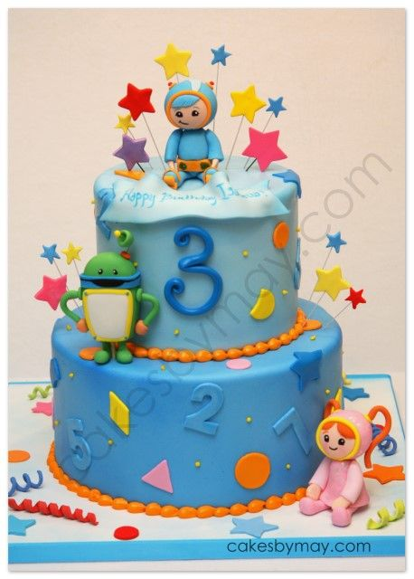 2 Tier Team Umizoomi Cake Lucas Just Picked Out His Bday