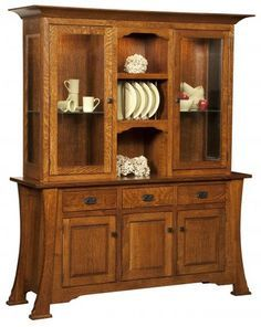 Cambridge Arts And Crafts Hutch | Shaker Mission Dining Hutches | Clear  Creek Amish Furniture