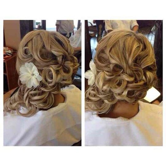 Bridal updo.. Hair by Linda Bang