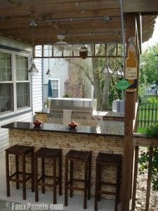 Faux Panels Diy Outdoor Bar Outdoor Bar And Grill Outdoor Patio Bar