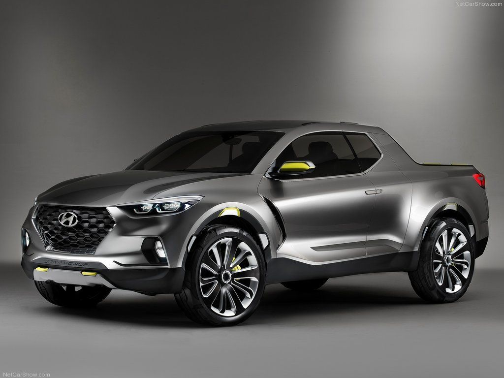 Hyundai Santa Cruz Crossover Concept Truck {First glance, I though it was an Infiniti)