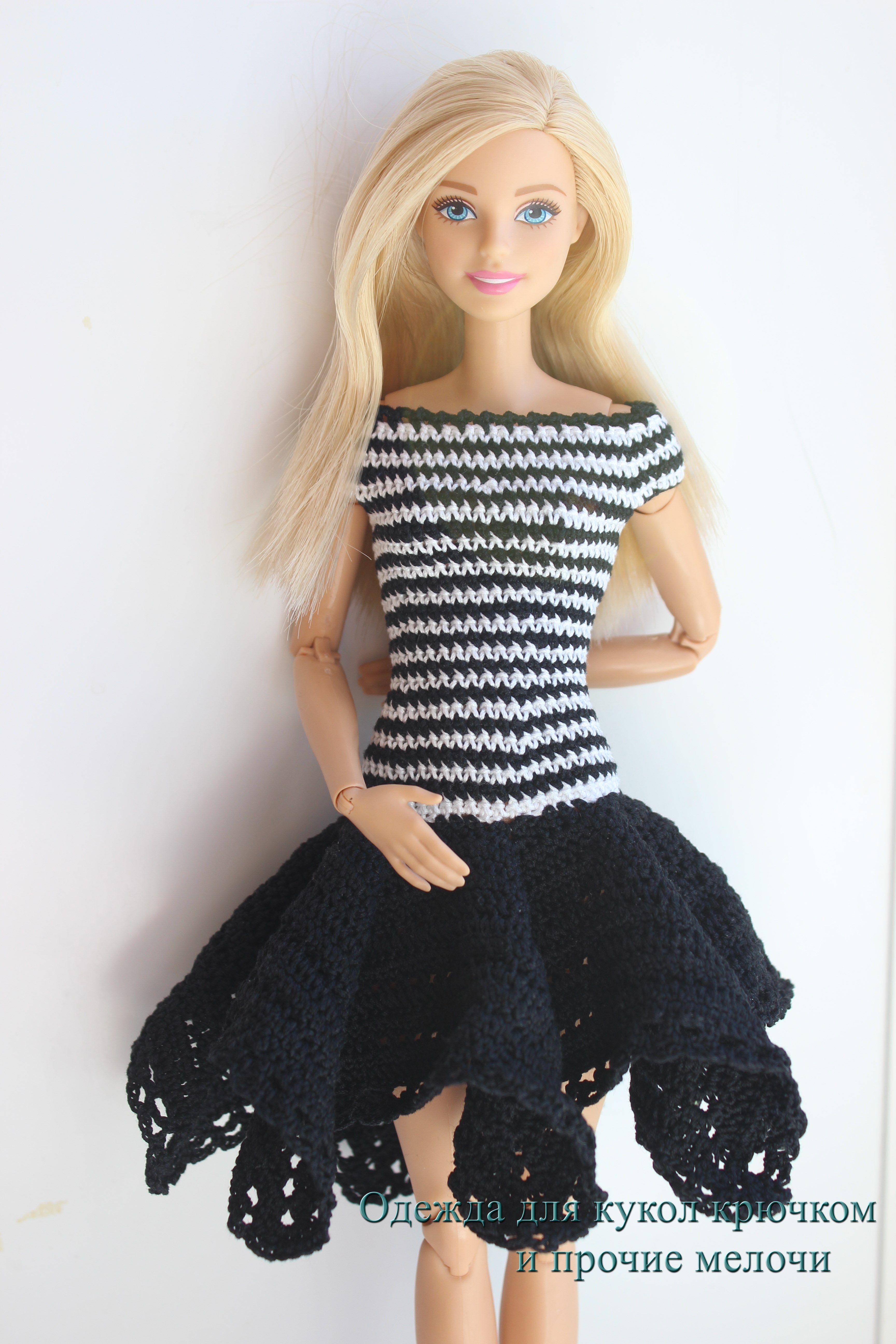 Crotchet dress for Barbie. https://vk.com/club84046800   Barbie ...