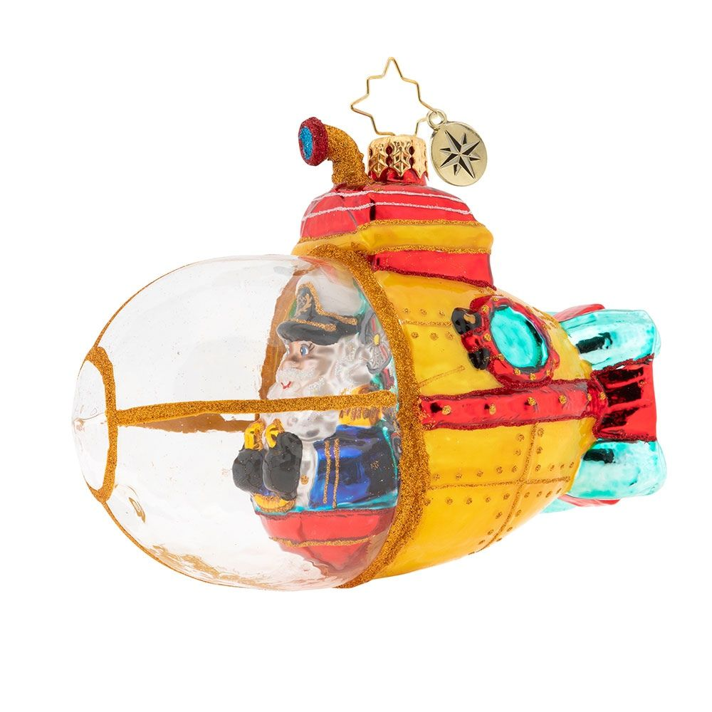 Submarine Christmas 2020 Submarine Claus in 2020   Christopher radko ornaments, Classic